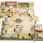Thiết kế nhà cấp 4 có 4 phòng ngủ