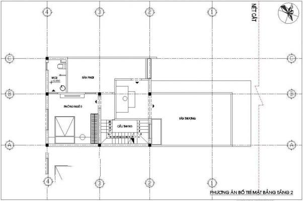 Tầng 2 nhà cấp 4 7x12m có gác lửng