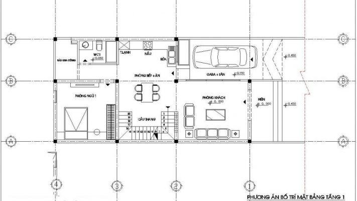 Tầng 1 nhà cấp 4 7x12m có gác lửng