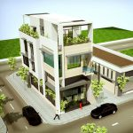 Thiết kế nhà phố 3 tầng kết hợp kinh doanh của chị Huyền tại Yên Bái