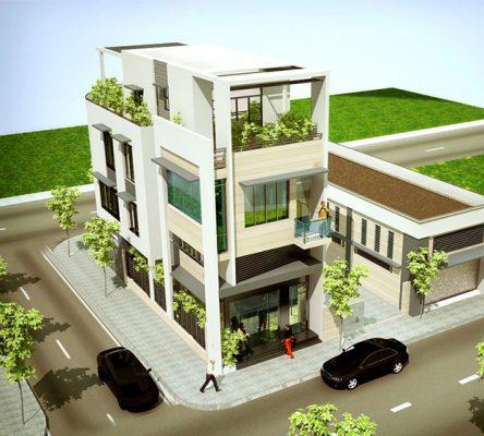 Thiết kế nhà phố 3 tầng kết hợp kinh doanh
