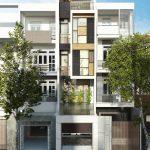 Thiết kế nhà phố 4 tầng 1 tum hiện đại gia đình chị Hồng tại Thái Nguyên