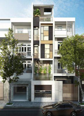Thiết kế nhà phố 4 tầng 1 tum hiện đại