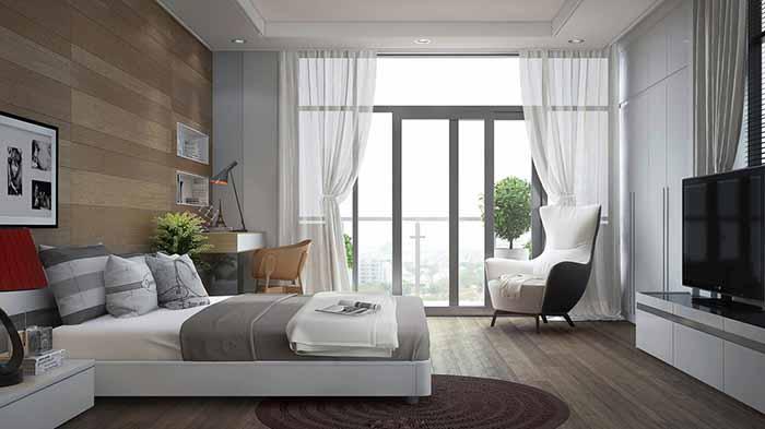 Mẫu thiết kế nội thất phòng ngủ có ban công đẹp