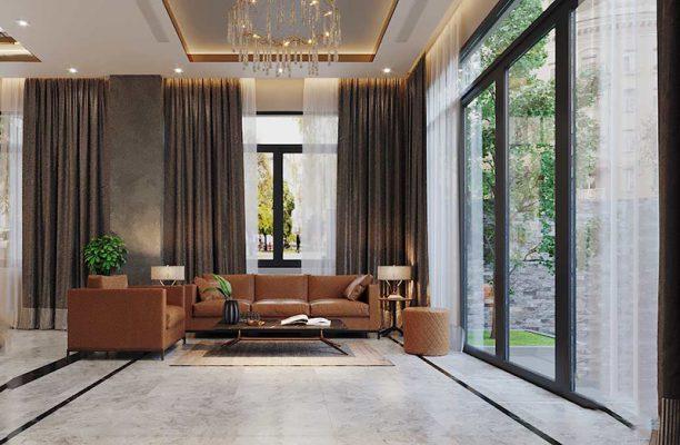 Nội thất phòng khách cho Vila 3 tầng anh Phước