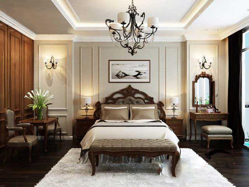 Mẫu thạch cao tân cổ điển phòng ngủ