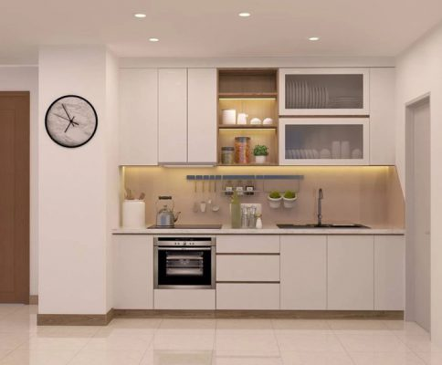 Thiết kế đơn giản cho phòng bếp