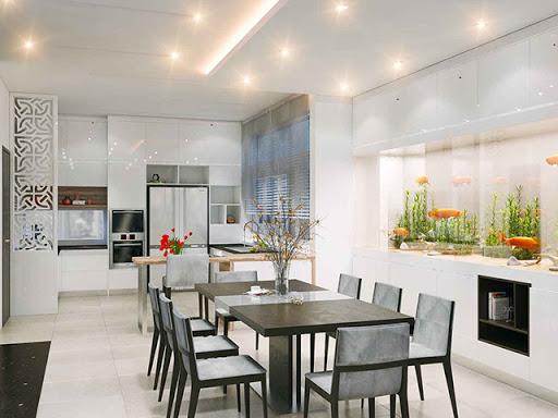 Nhà bếp kết hợp phòng ăn