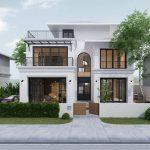 Thiết kế biệt thự 2 tầng tân cổ điển đẹp tại Phú Thọ