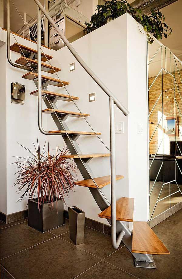 Những mẫu cầu thang cho mẫu nhà nhỏ hẹp
