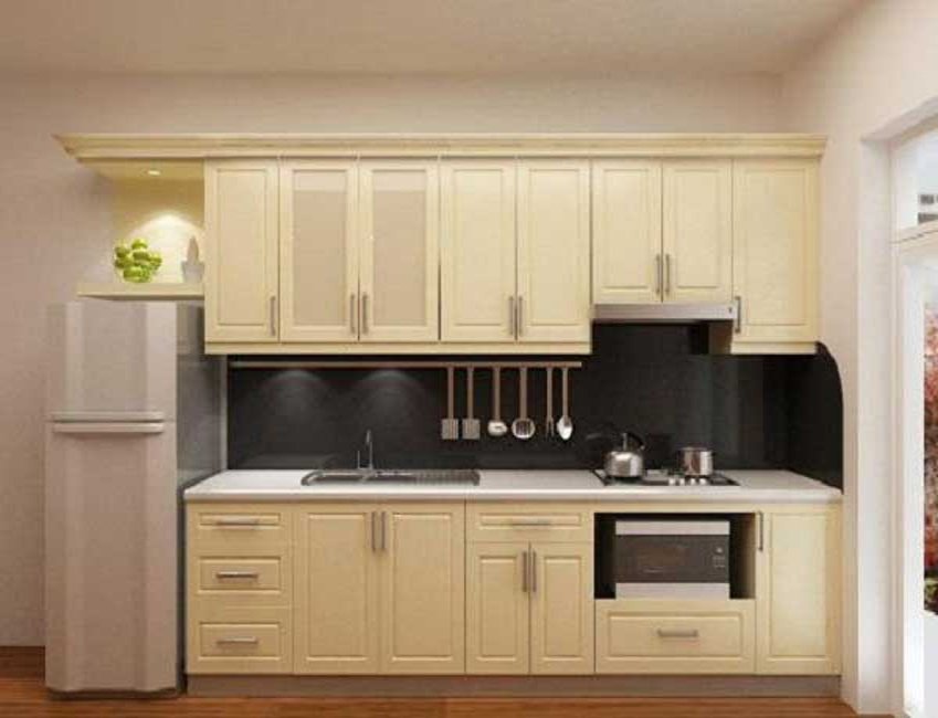 Những mẫu tủ bếp bằng gỗ tự nhiên đẹp hiện đại sang trọng