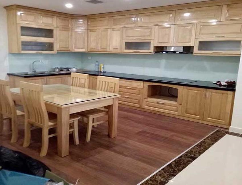 Những mẫu tủ bếp gằng gỗ tự nhiên hiện đai sang trong nhất