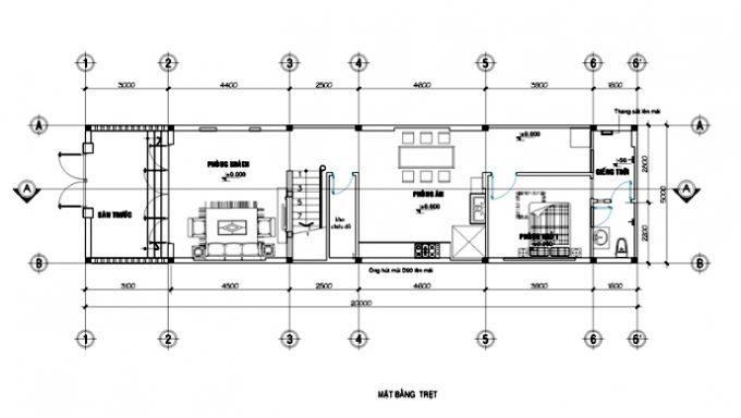 Nhà 2 tầng kiểu châu Âu 4 phòng ngủ