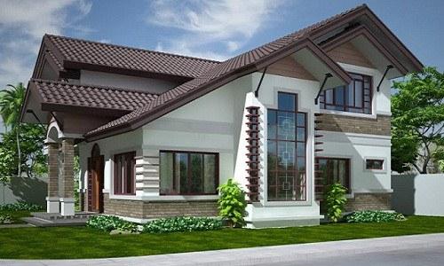 Thiết kế nhà 2 tầng phong cách Châu Âu sang trọng