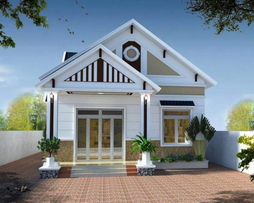 Mẫu thiết kế nhà cấp 4 mái Thái cho vợ chồng trẻ