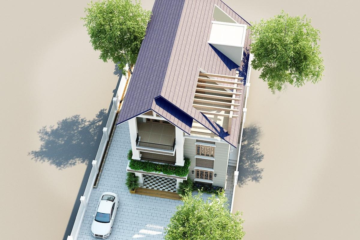 Thiết kế nhà ống 3 tầng mặt tiền 6m tại Phú thọ