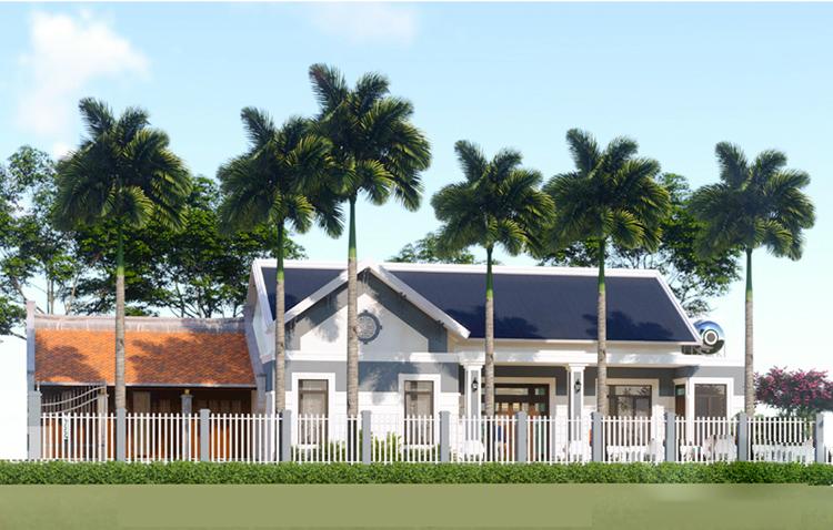 Mẫu thiết kế nhà vườn 3 phòng ngủ sân rộng thoáng tại Phú thọ