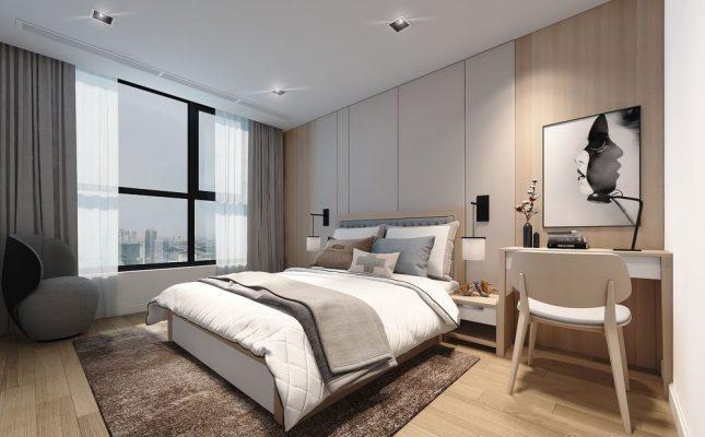 Phòng ngủ có góc âm tường