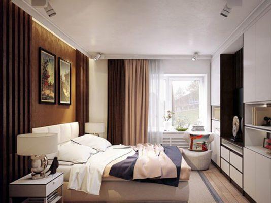 Thiết kế phòng ngủ hình chữ nhật