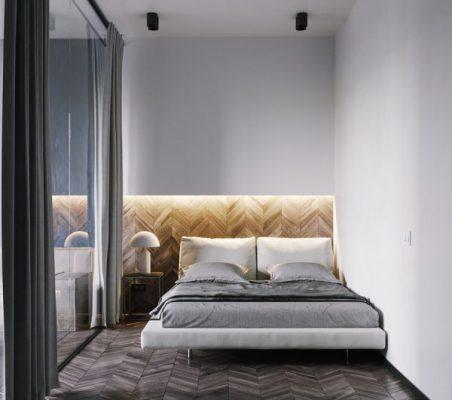 Phòng ngủ sử dụng gương chiếu lớn