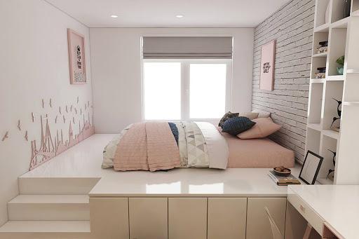 Phòng ngủ nhỏ với nội thất thông minh