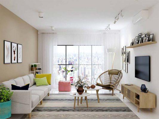 Xu hướng nội thất sử dụng tone màu sáng