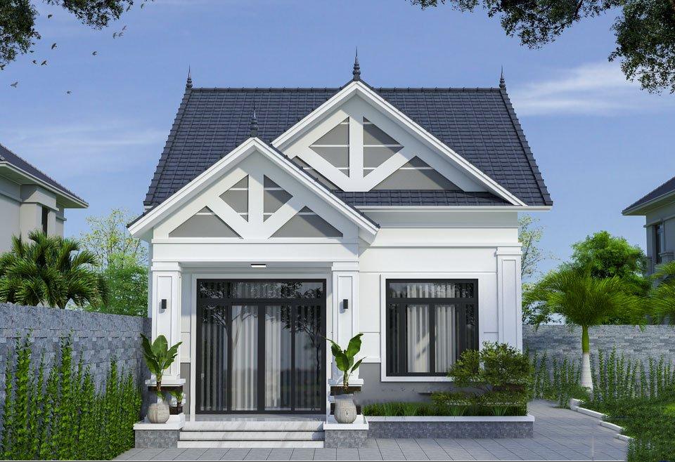 Thiết kế xây dựng trọn gói nhà mái nhật 1 tầng chỉ 580tr tại Tuyên Quang