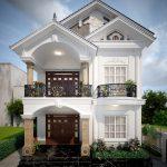 Thiết kế nhà 2 tầng mái Thái của gia đình anh chị Hưng Huệ tại Phú Thọ
