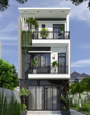 Thiết kế nhà phố 5,5x18m chị Thảo Phúc Yên - Vĩnh Phúc