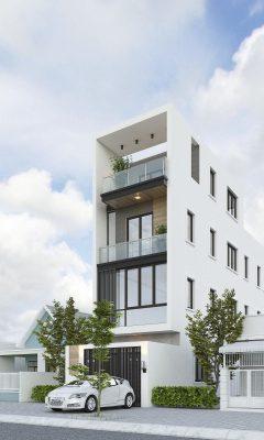 Thiết kế nhà phố hiện đại 3 tầng anh Duy Anh - Đống Đa - Hà Nội