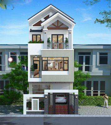 Thiết kế nhà 3 tầng mái thái hiện đại