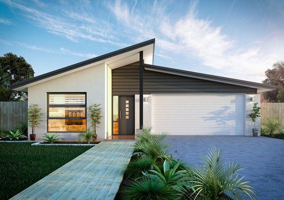 Mẫu thiết kế nhà mái lệch 1 tầng