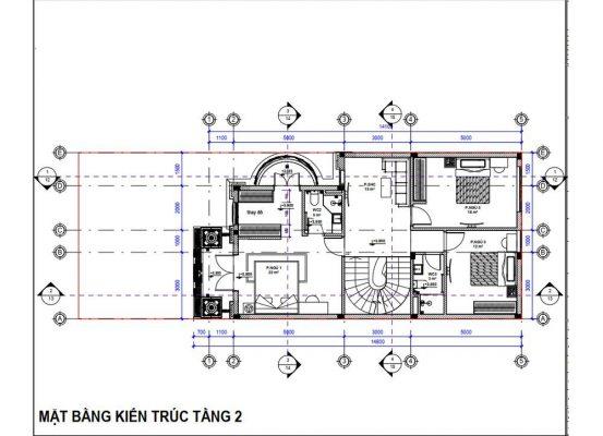 Thiết kế công năng tầng 3