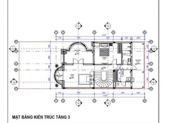 Thiết kế công năng tầng 2