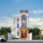 Thiết kế nhà phố 3 tầng 4 phòng ngủ Anh Ngọc tại Việt Trì – Phú Thọ