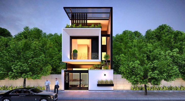 Thiết kế nhà phố hiện đại 900 triệu tại Phú Thọ
