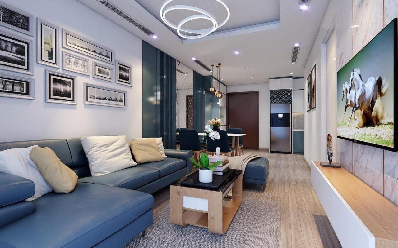 Thiết kế nội thất căn hộ chung cư hiện đại nhà anh Huy tại Hà Nội
