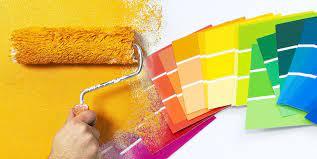 Tiến hành lăn sơn tường nhà