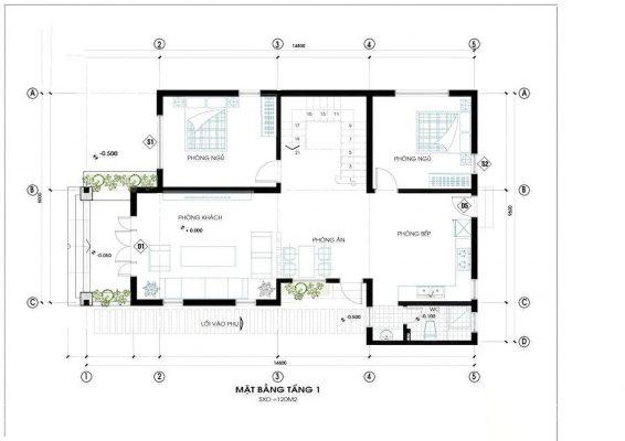 Biệt thự 2 tầng mái Thái 2 mặt tiền