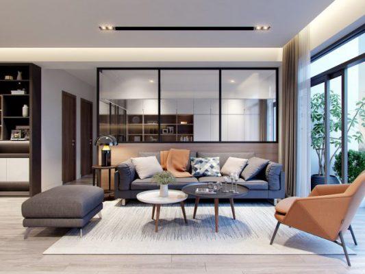 Thiết kế nội thất chung cư không gian xanh