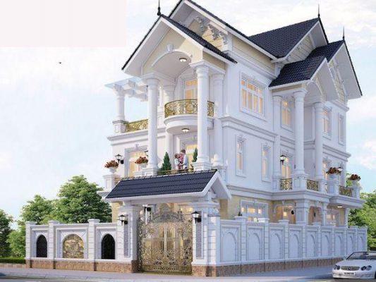 Thiết kế biệt thự tân cổ điển 3 tầng gia đình anh Mạnh tại Phú Thọ