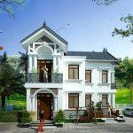 Thiết kế nhà 2 tầng chữ L anh chị Thành Phương tại Thái Bình.