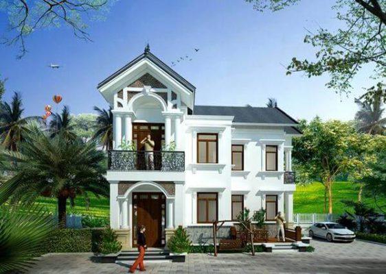 Thiết kế nhà 2 tầng chữ L anh chị Thành Phương tại Thái Bình