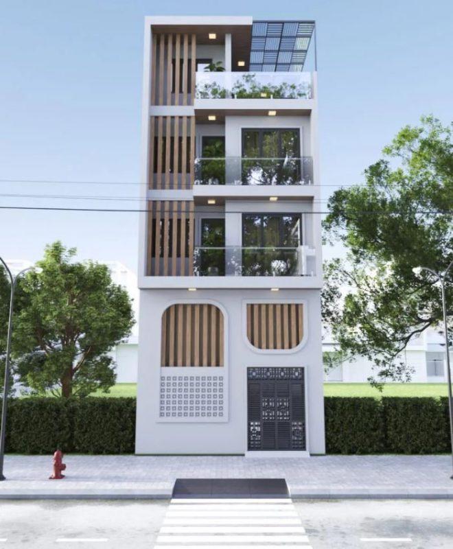 Nhà phố hiện đại diện tích 50m2 Anh Lâm Sóc Sơn - Hà Nội