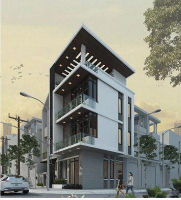 Thiết kế nhà phố 3 tầng hiện đại anh Giang – Hà Nội.