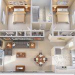 Thiết kế nhà cấp 4 diện tích 50m2 có 2 phòng ngủ