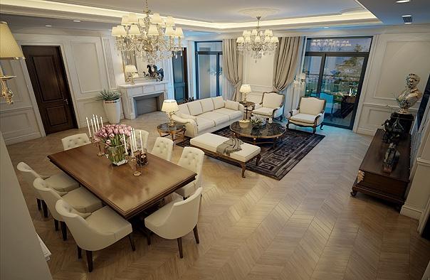 Mẫu thiết kế thi công nội thất chung cư cao cấp