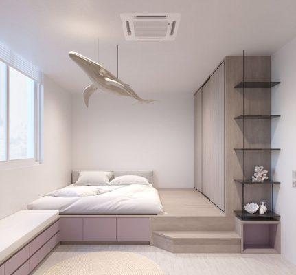 Thiết kế phòng ngủ nhỏ đẹp 5m2