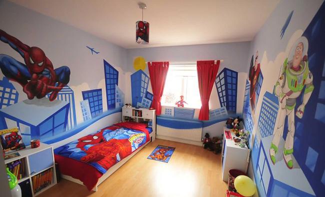 Căn phòng ngủ bé trai thích hoạt hình