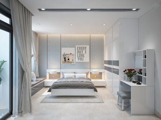 Nội thất phòng ngủ master cao cấp với diện tích 12m2